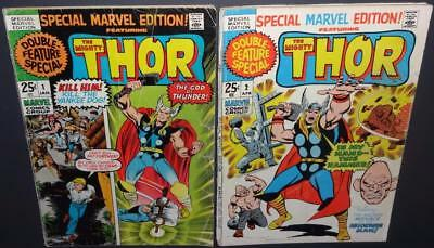 Special Marvel Edition #1, 2 1971; 2-iss lot; Thor by Kirby 3.5-3.0 BV$12 50%Off