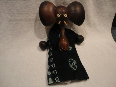 Handmade Authentic African Gourd Puppet Elephant