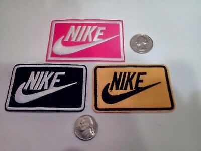 "(3) Nike  Logo/ Emblem Embroidered Iron On Patches PATCH LOT 3"" x 2"""