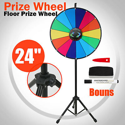 Voilamart 24 Inch Tabletop Color Prize Wheel With Folding Tripod Floor Stand