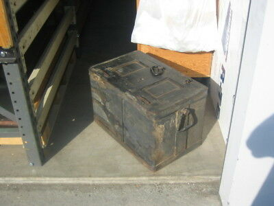 1940,s railroad strong box stagecoach strong box  15x15x24