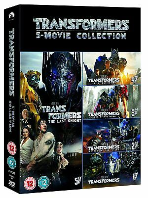 TRANSFORMERS 1-5 Box Set Complete Movies 1 2 3 4 5 Collection DVD NEW