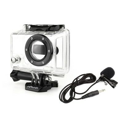 For GoPro Hero 2 1 Skeleton Housing Side Opened Case + 3.5mm Jack Microphone Mic