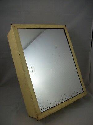 Antique Art Deco Medicine Cabinet Vintage Glass Mirror Metal Industrial Bathroom