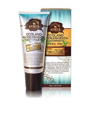 Ecoland Waterless Organic Dental Care Toothpaste Gum Dogs Pet Bad Breath 80g