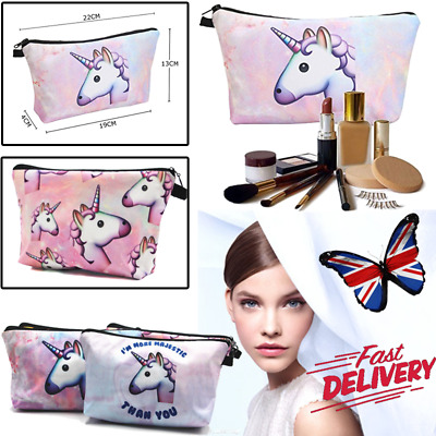UNICORN MAKE UP BAG / GIFT Pencil Case Cosmetic Travel Bag Girls Women Handbag