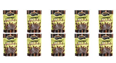 901901 10 X DARRELL LEA AUSTRALIAN LIQUORICE BULLETS MILK CHOCOLATE COATED 200g