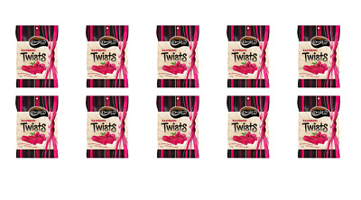 902120 10 x 300g BAGS OF DARRELL LEA RASPBERRY LICORICE TWISTS MADE IN AUSTRALIA