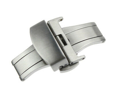 Stainless Steel Deployment Clasp Watch Strap Butterfly Buckle Push Button 16~22