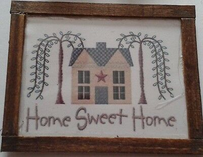 Dolls House embroidery Sampler  (Home Sweet Home)