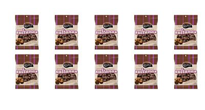 902117 10 X DARRELL LEA AUSTRALIAN DARK CHOCOLATE COATED SULTANAS 155g BAG