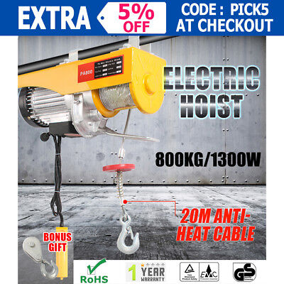400/800KG Electric Hoist Winch Strong Cable Lift Tool Remote Chain Lifting Rope