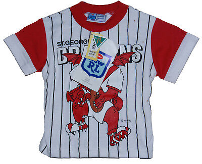 VINTAGE 1990's NSWRL ST GEORGE DRAGONS KIDS TOP