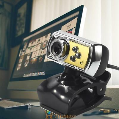 HD 12.0MP 3 LED USB Webcam Camera with Mic & Night Vision Yellow for PC UK