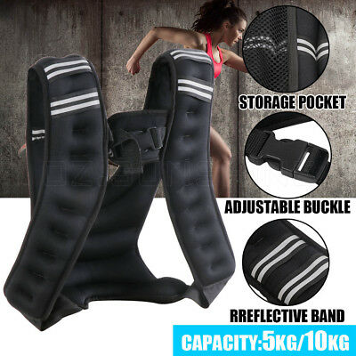 Adjustable Workout Weight Weighted Vest Gym Crossfit Training MMA RunningSport