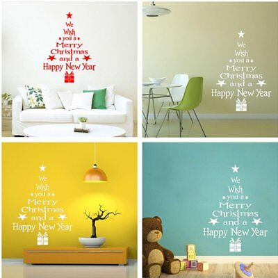MERRY Christmas Wall Art Removable Home Window Wall Stickers Decal ...