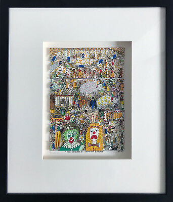 """James Rizzi 3D """"the Greatest Show On Earth"""" 1995 - 306 / 350 - Gerahmt"""