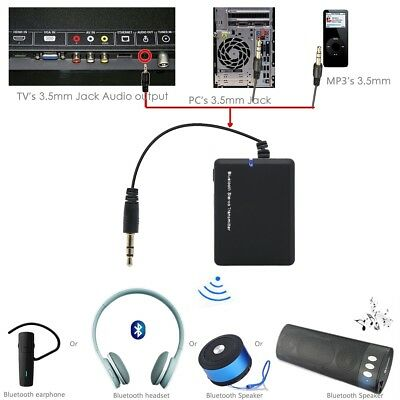 Bluetooth 3.5 A2DP Stereo Audio Adapter Dongle Sender Transmitter für TV PC MP3