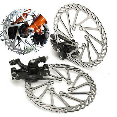 Mechanical Disc Brake MTB Bike Cycling Bicycle Front + Rear Caliper 160mm Rotors