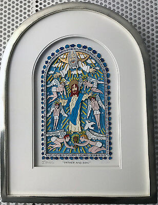 """JAMES RIZZI 3D """"FATHER AND SON"""" 2016 - 33 / 350 - Rahmen in Kirchenfenster-Optik"""