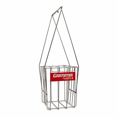 GAMMA Tennis Ball Hopper Hi-Rise 75| Silver Tennis Ball Holder W/ 75 Ball Capaci