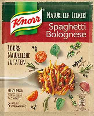 5 x Knorr Spaghetti Bolognese 100% natural ingredients !  New from Germany