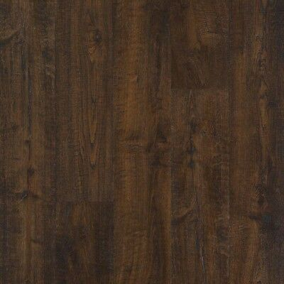 New Chocolate Brown Scraped Oak Length Laminate Flooring 1612 Sq