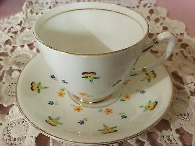 Royal Stafford Bone China Hand Painted Cup And Saucer England