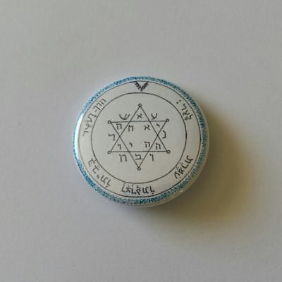 Button Badge Talisman -Second Pentacle of Jupiter - Seals Of Solomon