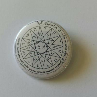 Button Badge Talisman - 4th Pentacle of Mercury - Knowledge Seal Of Solomon