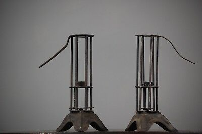 Antique Bird Cage Candle Sticks