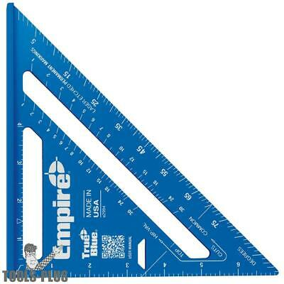 Empire E2994 7'' TRUE BLUE Laser Etched Rafter Square New