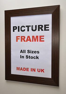 Walnut Picture frame 40mm wide All Sizes in Inch | Picture Frames Photos Framing