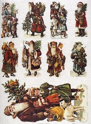 Rice paper - Santa's situations 01- for Decoupage Scrapbooking Sheet