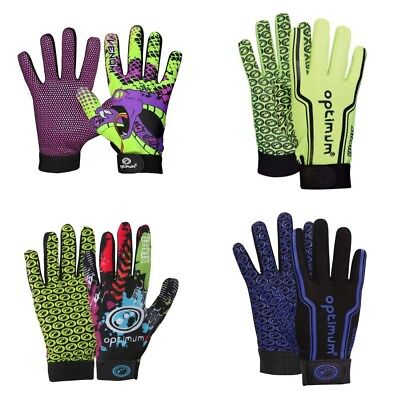 Optimum Velocity Full Finger Thermal Stik Mit Rugby Gloves Size Kids Adults
