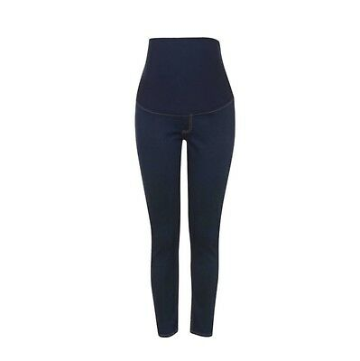Maternity Over The Bump Comfort Everyday Jeans Grey Animal Print or Navy Blue