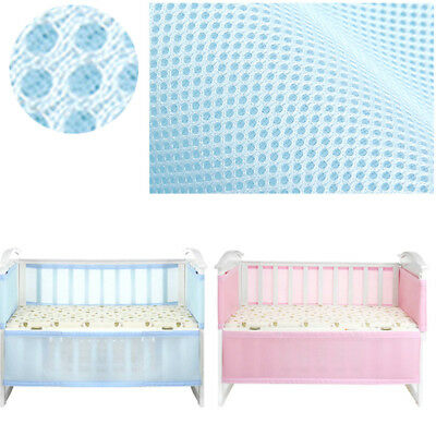 Breathable Infant Baby Bed Mesh Bumper Crib Liner Protection Pad Soft Secure