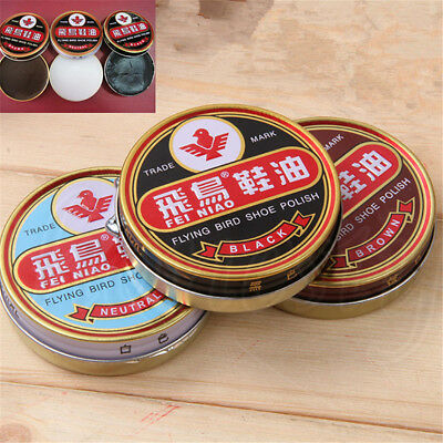 2pcs Useful Flying Bird Leather Shoe Wax Polish High Gloss Shine 40g 3 Colors