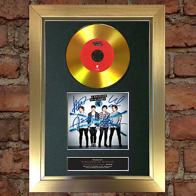 GOLD DISC 5 SECONDS OF SUMMER Signed CD Mounted Repro Autograph Print A4 91