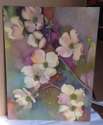 Vintage Magnolia Dogwood watercolor print