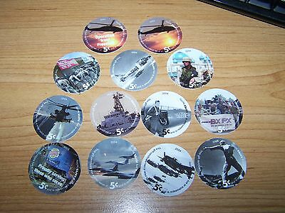 5th  Print  Set  of  5  Cent s   AAFES  Pogs  2004 About Uncirculated