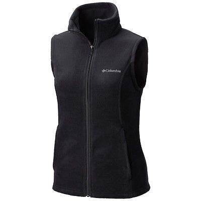 "New Womens Columbia ""Benton Springs"" Full Zip Fleece Vest XS-S-M-L-XL"