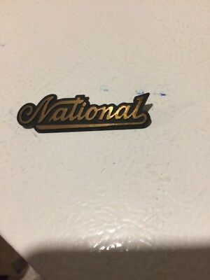 Antique Brass National Cash Register Company BRASS TAG Candy Barber NCR