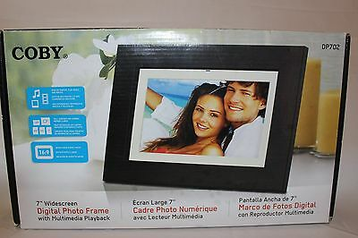"""Coby 7"""" Widescreen Digital Photo Frame With Multimedia Playback DP702"""