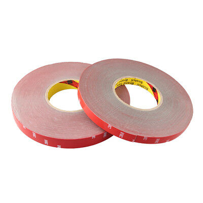 2X 300CM 10mm Foam Tape Car Auto Truck Acrylic Double Side Adhesive