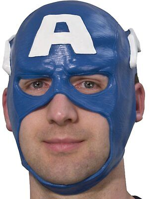 New Marvel Captain America Adult Halloween Vinyl Mask One Size Fits Nwt