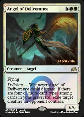 MTG: Angel of Deliverance Launch Promo - Shadows over Innistrad - SOI - Magic