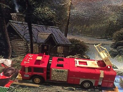 1986 RED  Toy HESS FireTruck  Bank, USED, No Box, See Pics