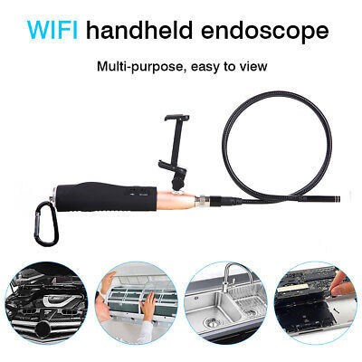 WIFI Hand Endoscope HD Rigid Inspection Snake Camera 6LED for Samsung Iphone PC