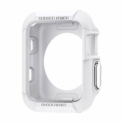 Apple Watch Series 3 Case Shockproof Rugged Armor Protector 42mm iWatch White